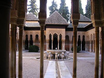 Obiective turistice Spania: Alhambra Granada, curtea cu lei