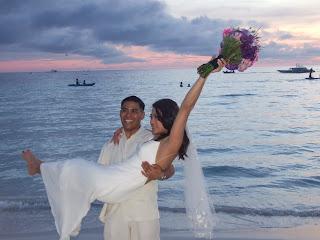Imagini Filipine: nunta pe plaja