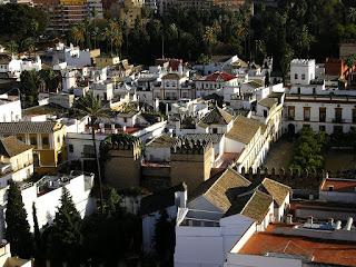 Imagini Andaluzia: Alcazar Sevilla vazut din Giralda