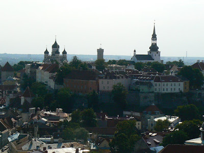 Obiective turistice Estonia: panorama din catedrala Sf. Olaf
