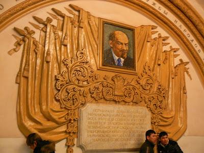 Lenin in statia Kropotinskaya