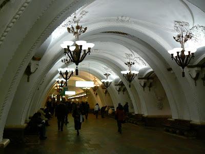 Imagini Moscova: metro Arbatskaya