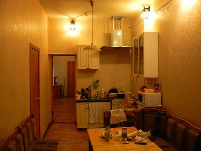 Cazare Rusia: Hostel Zimmer Sankt Petersburg bucataria
