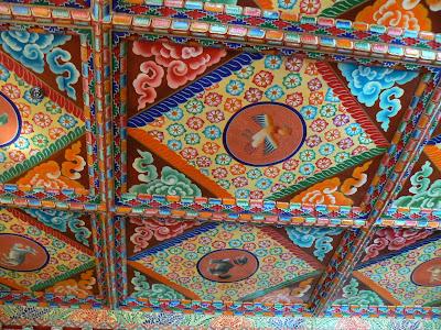 Imagini Tibet: hotel Dhod-Gu Lhasa plafonul