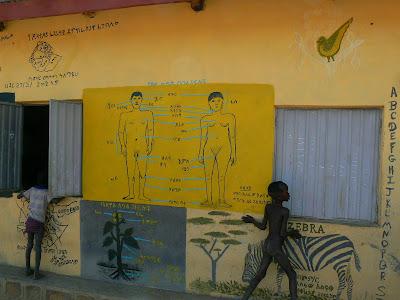 Imagini Etiopia - scoala in sat african - Hamer