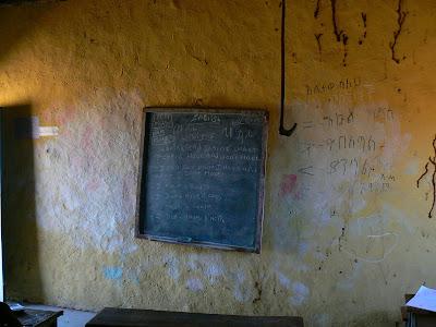 Imagini Etiopia - scoala in sat african - Hamer, tabla