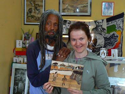 Imagini Etiopia: Banana Art Gallery Shashemene cu Bandi