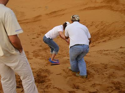 Imagini Dubai: Safari in desert, boarding pe nisip