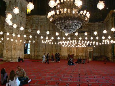 Imagini Egipt: moscheea Mohammed Ali Cairo interior