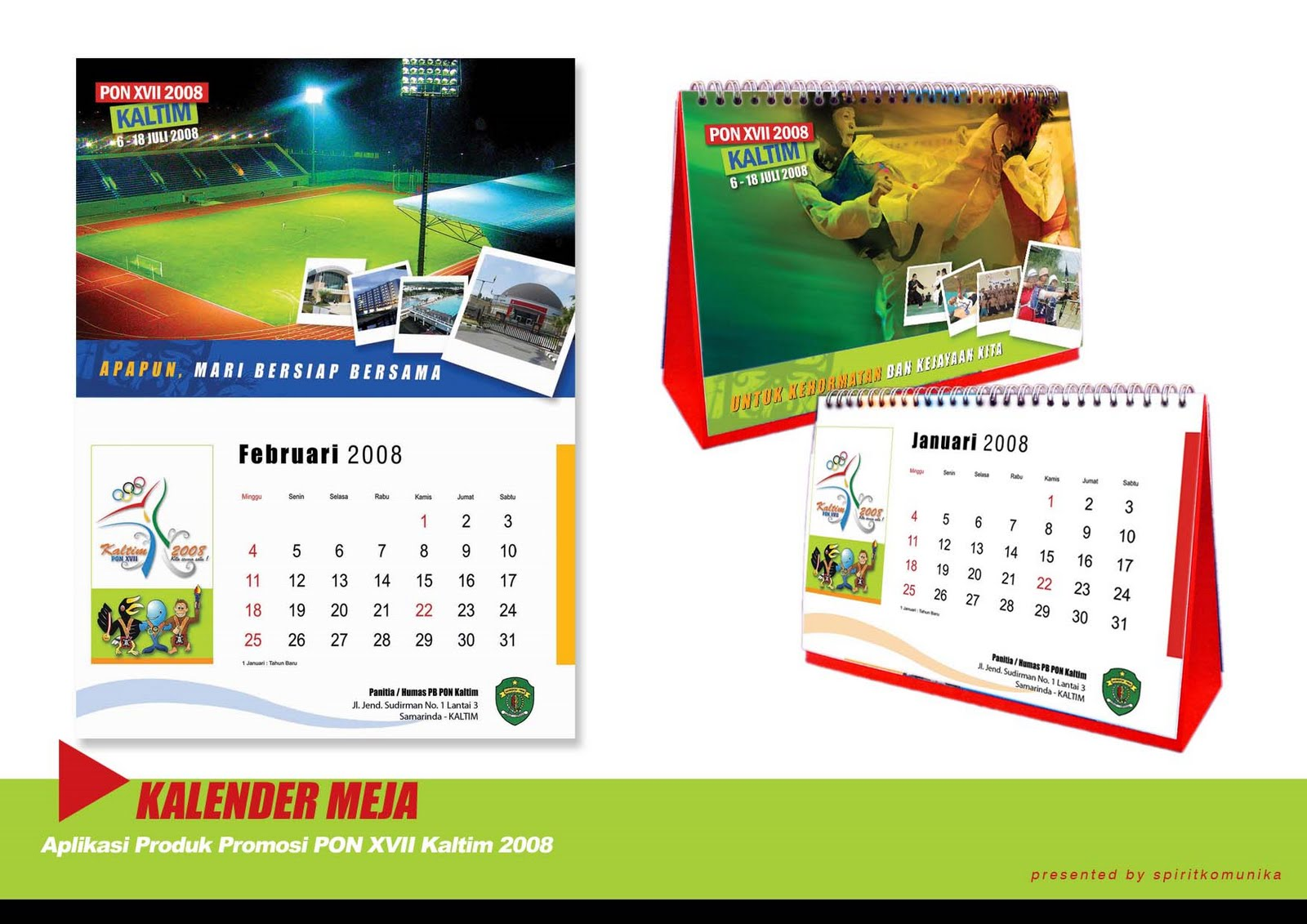 Template Kalender Meja Photoshop Free