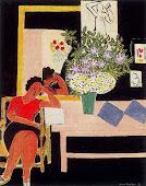 Liseuse sur fond noir, (Henri Matisse, 1939)
