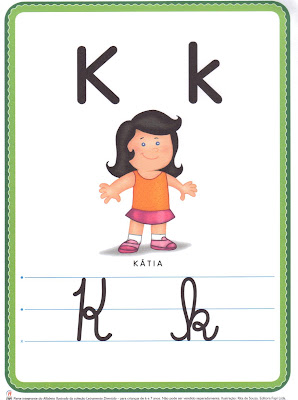 ALFABETO+LETRA+K A PEDIDOS: + UM ALFABETO ILUSTRADO! para crianças
