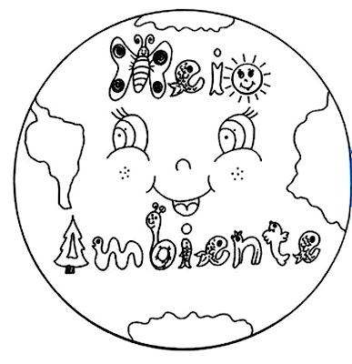 imagens para colorir sobre o meio ambiente - Educar X Desenho para colorir reciclagem