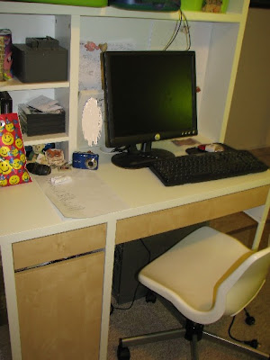 Micke Desk And Hutch And Snille Chair All From Ikea