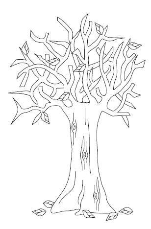 Perfecto árbol De Otoño Para Colorear Página Imágenes - Ideas Para ...