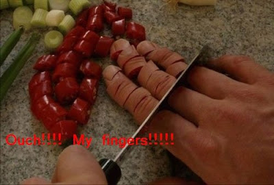 Funny human picture: Cutting fingers 搞笑人类图片:切手指