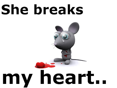 Funny Mice: Heart broken mouse