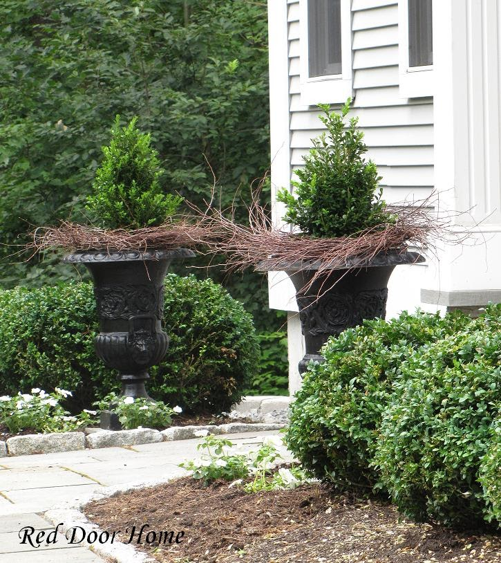 Landscaping With Urns : Red door home landscaping solution reveal