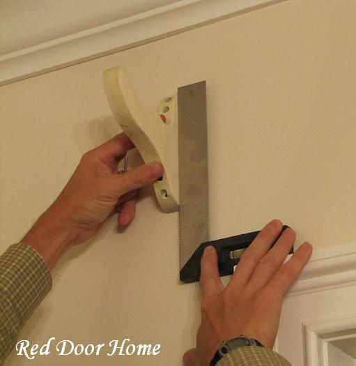 Kitchen Window Placement: Red Door Home: How To Install Drapery Hardware Brackets