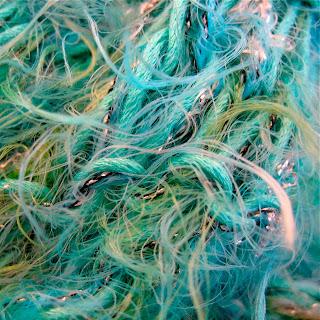aquamarine adventures handknit scarf by susanneedlehands