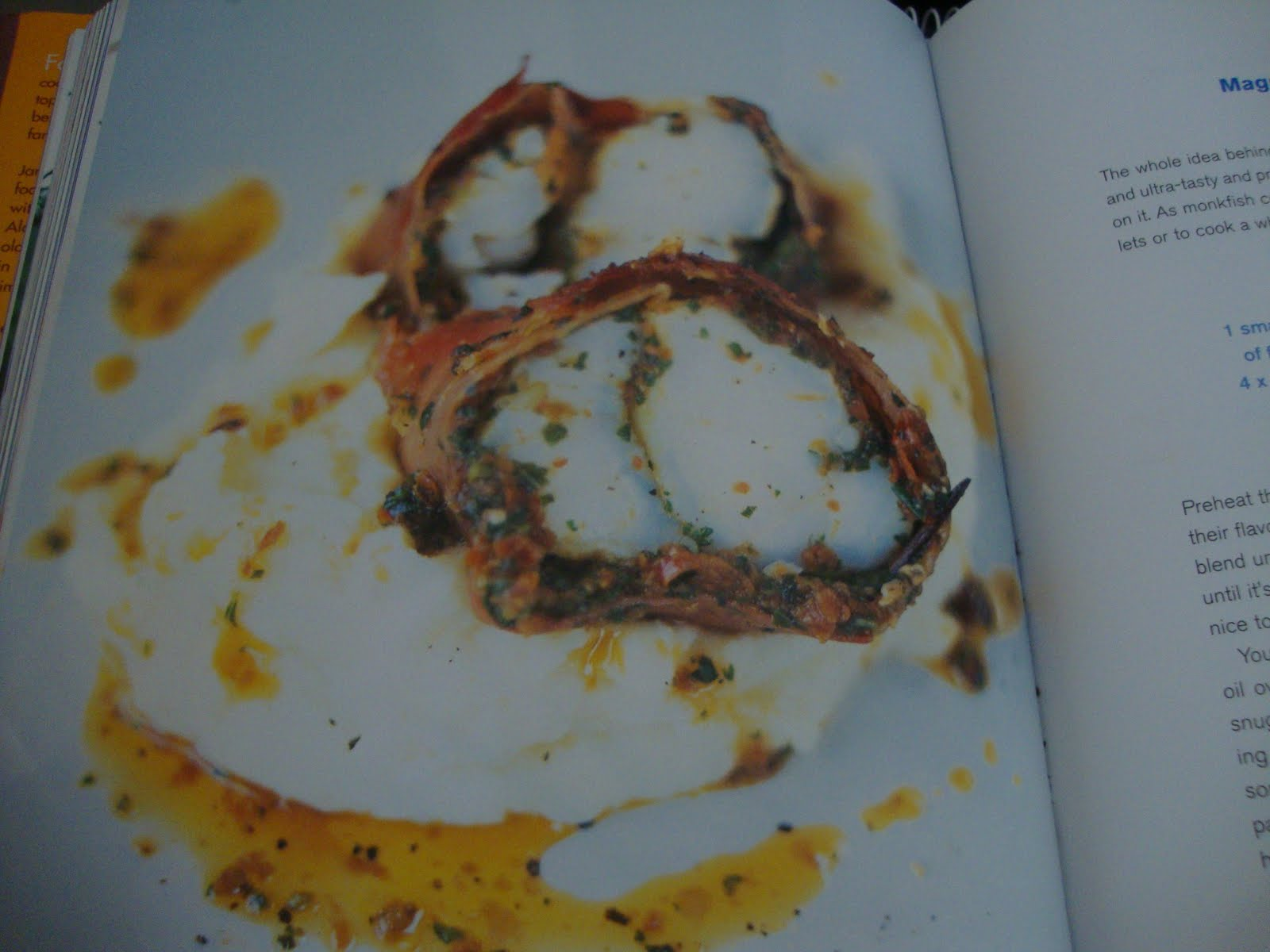 Eat out eat in magnificent roasted monkfish not monkfish for Monkfish and parma ham recipe