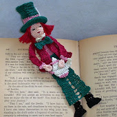 Mad Hatter Reading Character Bookmark PDF Pattern