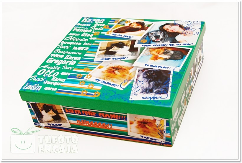 Tu foto en caja caja personalizadas cuadradas for Cajas personalizadas con fotos