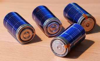 Pilhas regarregada a energia solar