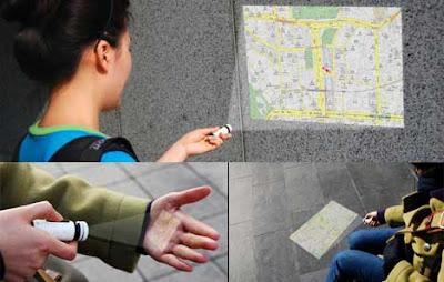 Maptor mapa e projetor