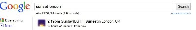 Pôr sol em Londres
