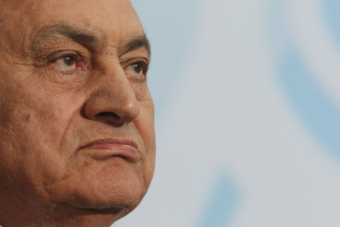 President Hosni Mubarak. It's quite inevitable with what's going on in Egypt