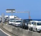 Embouteillage sur la route du littoral