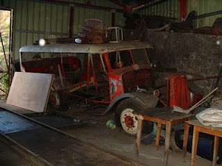 Car courant d'air en chantier de restauration