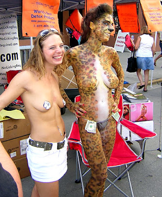 Body paint on Duval Street