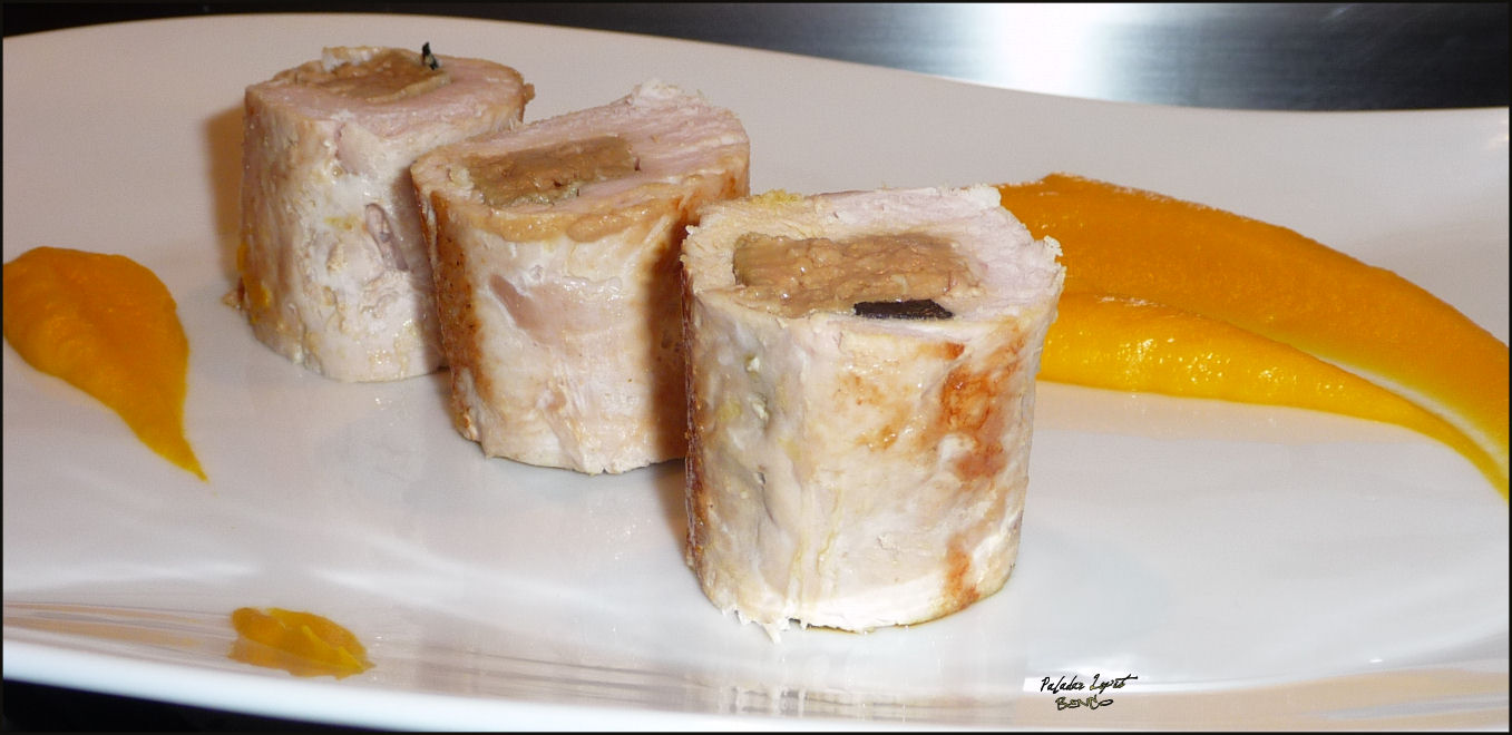 Lou paladar lepet dinde farcie au foie gras mousseline potimarron la - Dosage sel et poivre pour foie gras ...