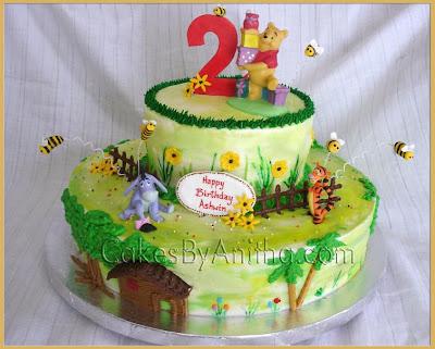 Cakes by Anitha Pooh bear Birthday Cake