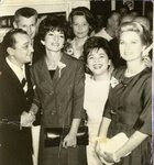 La Callas+Grace Kelly in Athens next to Mary Linda and Manolis Hiotis