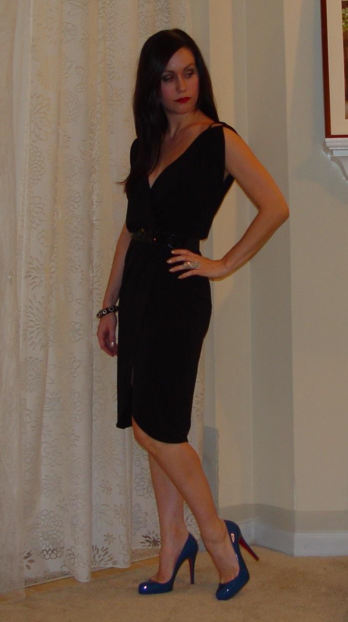 Blue Dress Black Heels