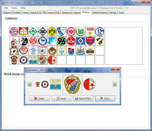 PES 2010 Editor v1.9.1 Preview