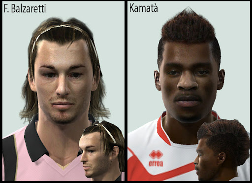 Pes 2010 - Balzaretti & Kamata Faces Preview