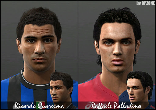Pes 2010 - Palladino & Quaresma Faces Preview