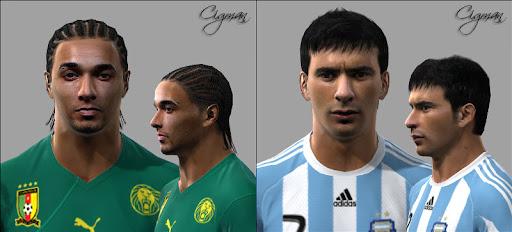 Pes 2010 - Ekotto & Lavezzi Faces Preview