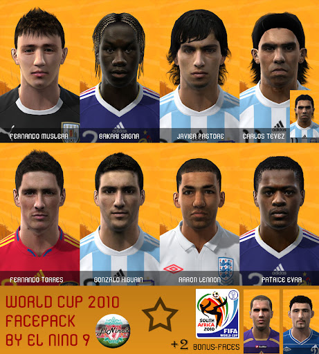 World Cup 2010 Facepack by El Nino 9 Preview