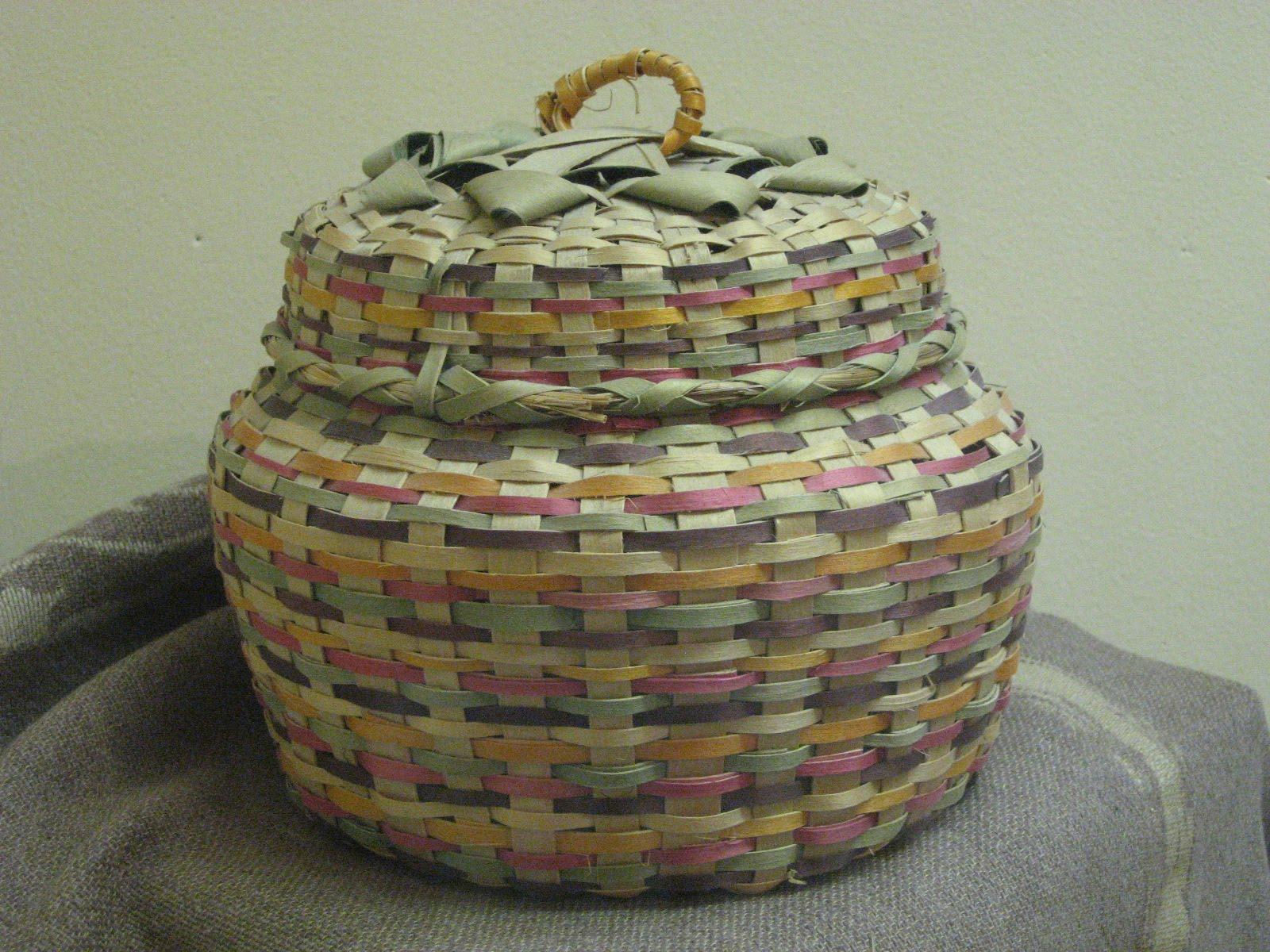 History Of Basket Weaving : North berrien historical society basket weaving work