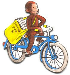 a review of ha reys book curious george rides a bike Author: h a rey george  curious george rides a bike on 8/18/2006 + 597  more book reviews  read all 7 book reviews of curious george rides a bike .