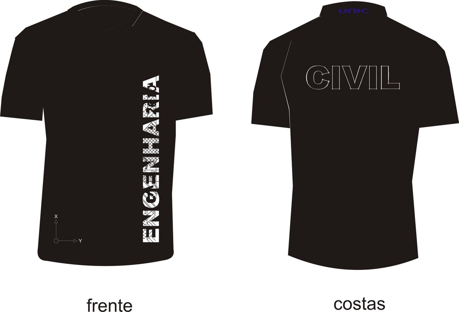 Camiseta Do Curso De Engenharia Civil UNIC 2010