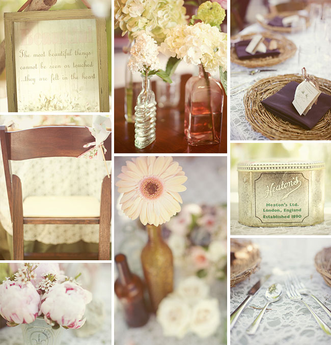 I love the shabby chic theme for a summer wedding may be for the pale
