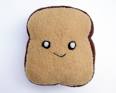 Happy Chubby Squishy Toast Plushie