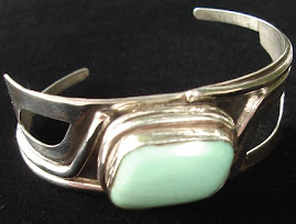 Grecian Goddess-Silver Bracelet with Amazonite Stone