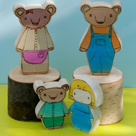 Wooden Star House Goldie Locks and the Three Bears